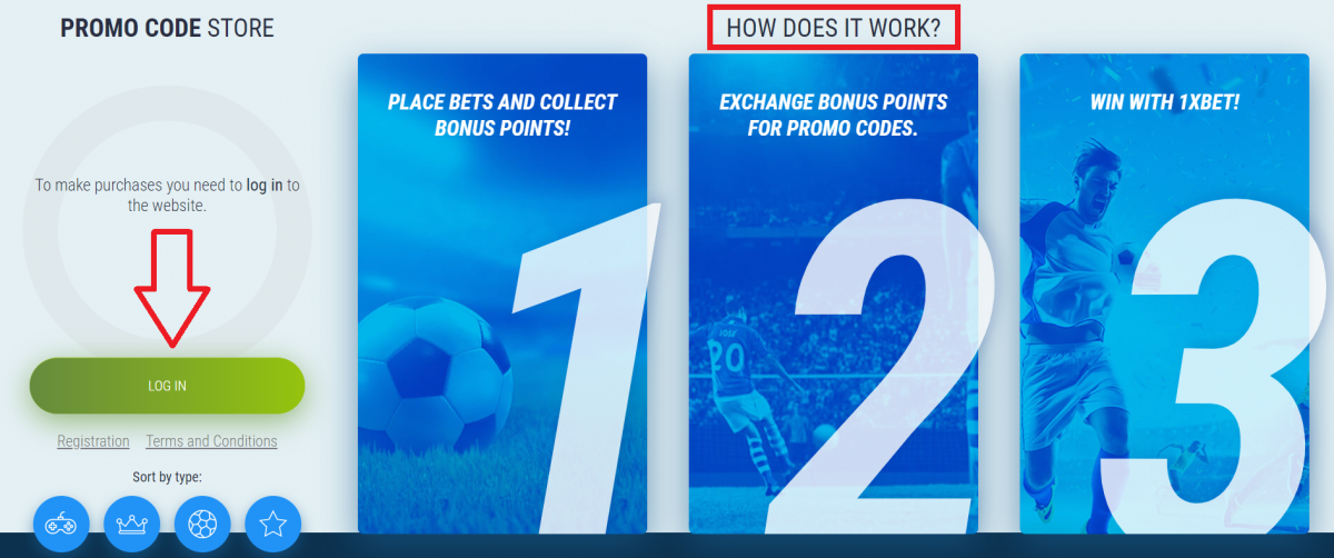What is 1xbet promo code?
