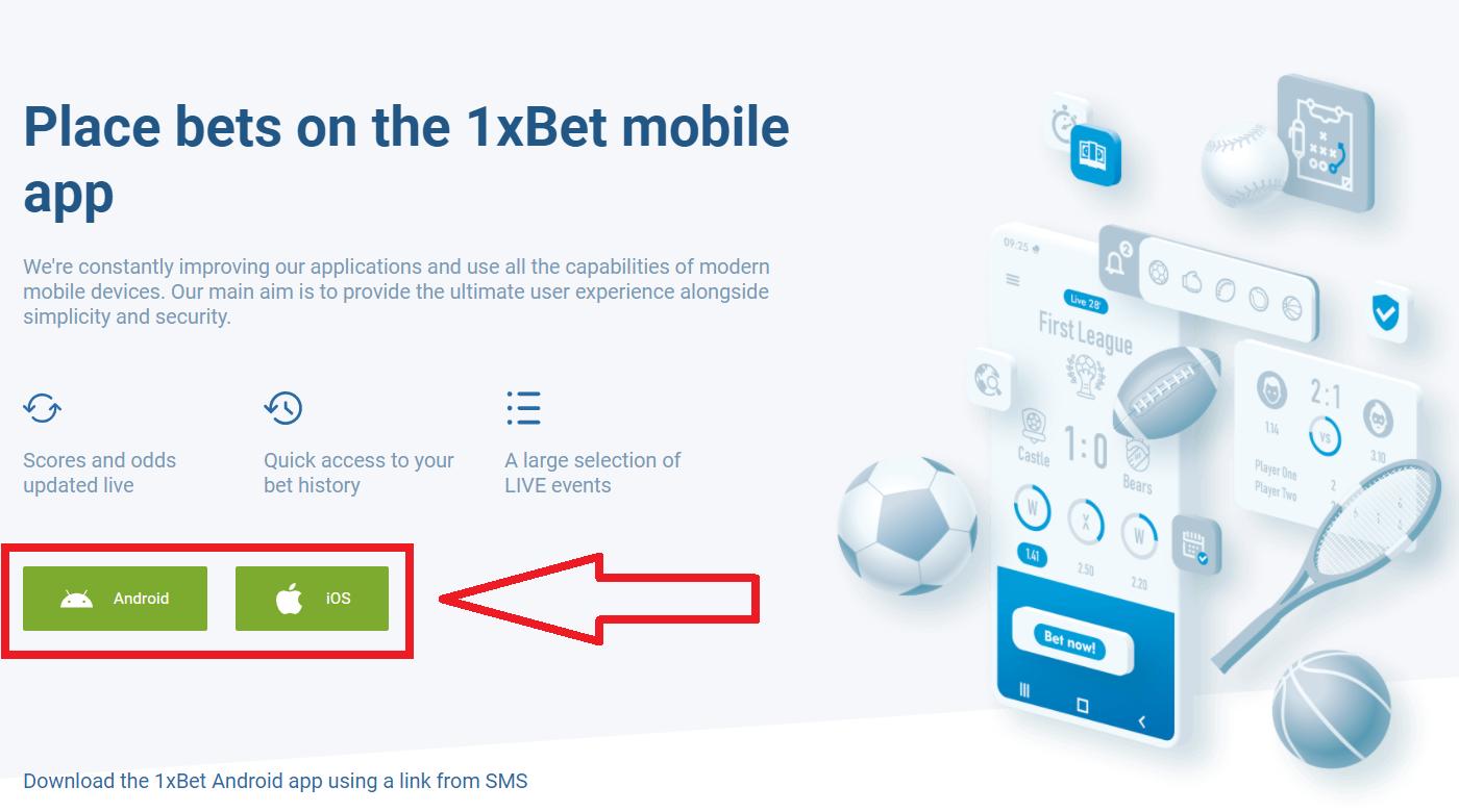 1xbet app for Windows phone